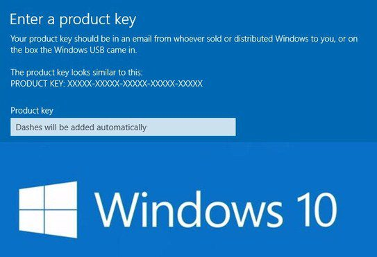 Window 10 product key